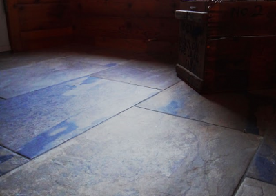Slate-Look Tile in Cabin