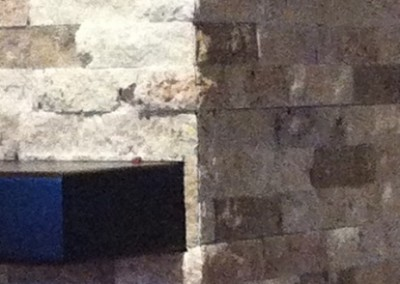 Ledgestone Fireplace Joining Edge
