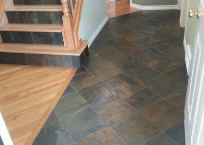 Slate with Slate & Hardwood Stairs