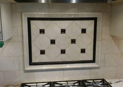 Natural Stone Above Stove