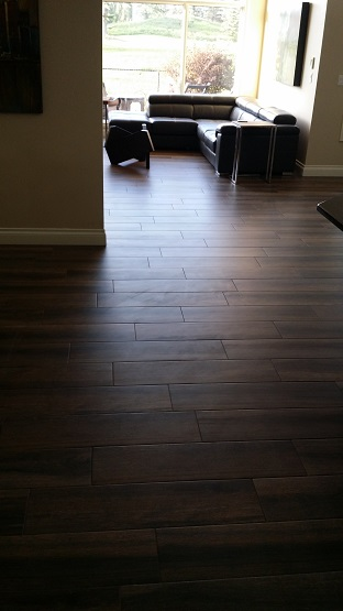 Dark Hardwood-Look Tile