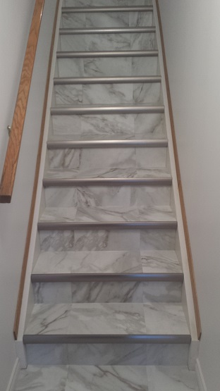 Vinyl Tile on Stairs