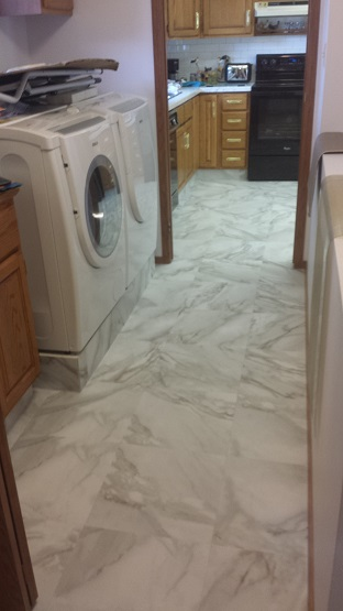 Vinyl Tile in Laundry Room