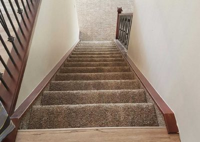 Vinyl Plank to Carpet Stairs