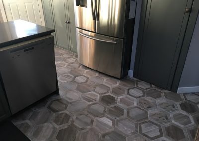 Hexagon Tile in Kitchen