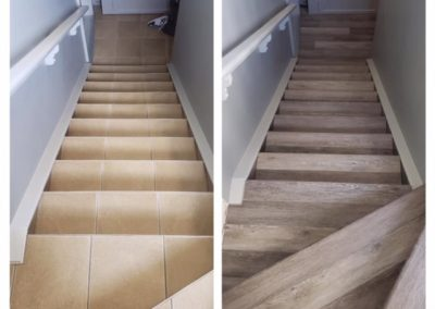 Before & After with Vinyl Plank