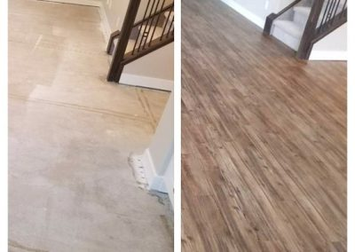 Before & After with Avalon Vinyl Plank